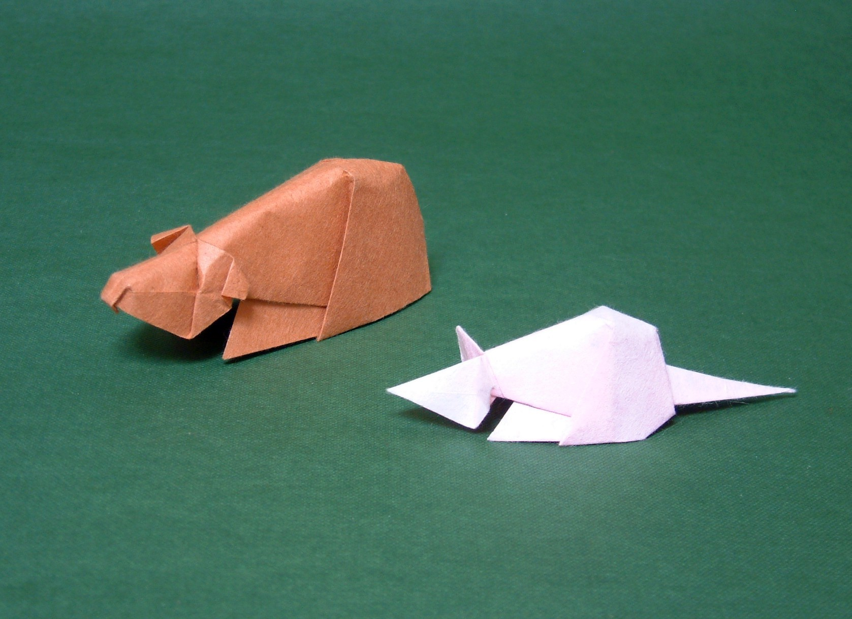 Guinea Pig And Mouse David Brill To Fold Origami From The Paper Diagram Of Themouse