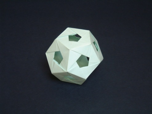 True woven dodecahedron by Dave Brill
