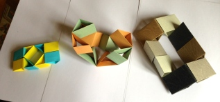 Some Triangle Flexicubeexperiments