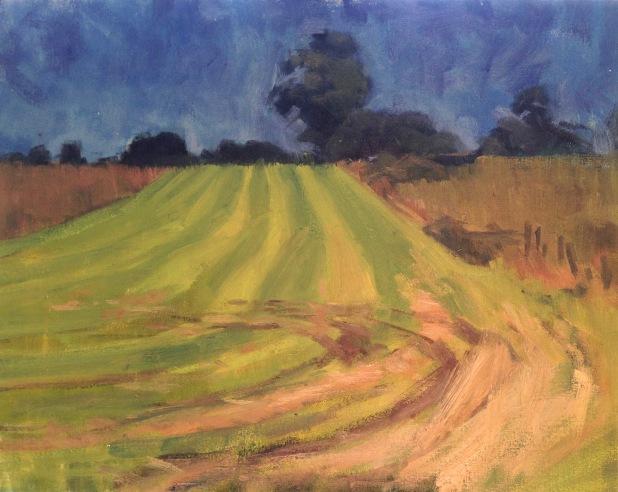 Hot hayfield