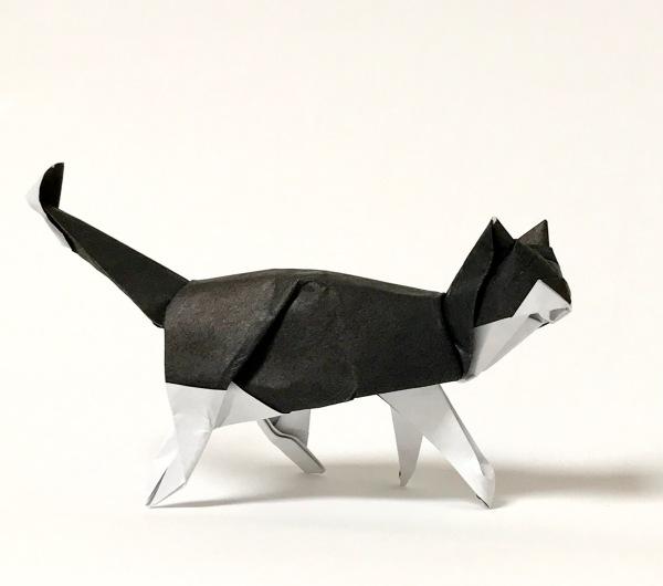 размещение кот оригами картинка итоге посоветовавшись
